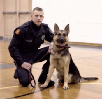 Officer Brian Moore and his partner, Jack. Photo courtesy of Faus K-9 Specialities.